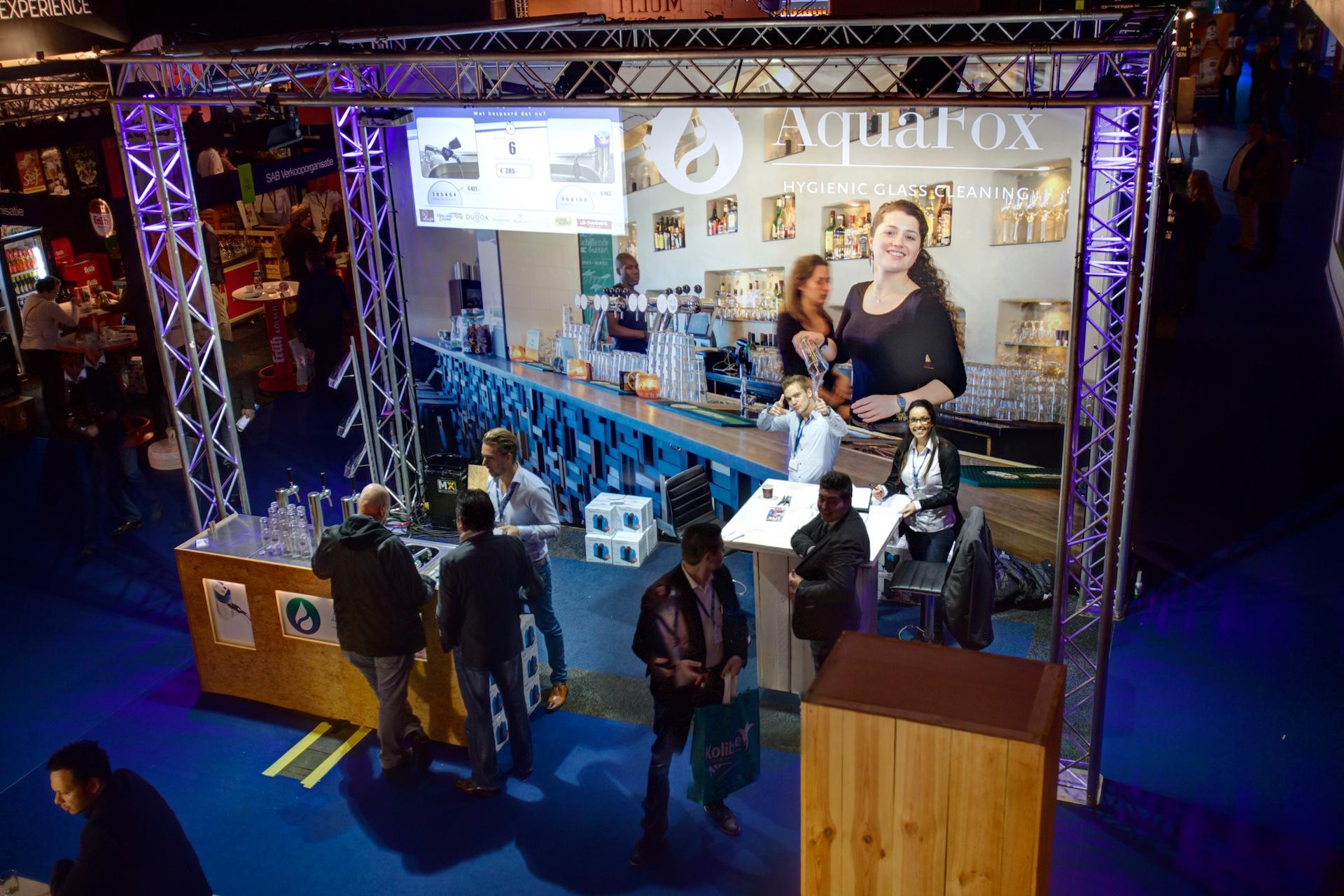 AquaFox Banner at the Horecava Expo